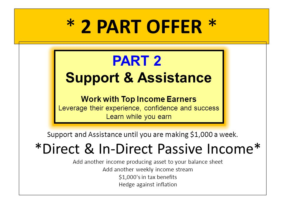 Work with Top Income Earners