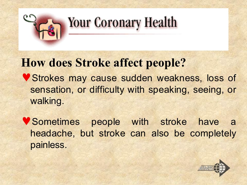 How does Stroke affect people