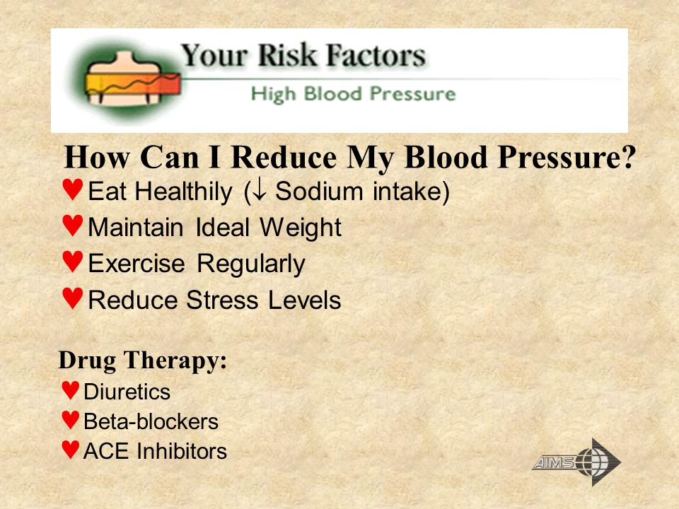 How Can I Reduce My Blood Pressure
