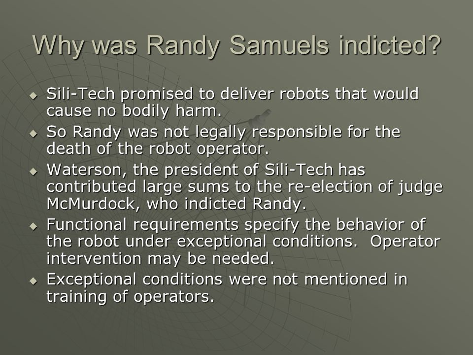 Why was Randy Samuels indicted