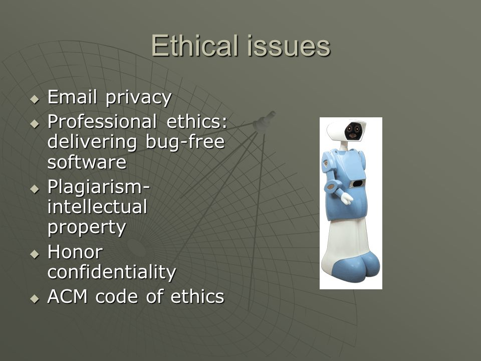 Ethical issues Email privacy