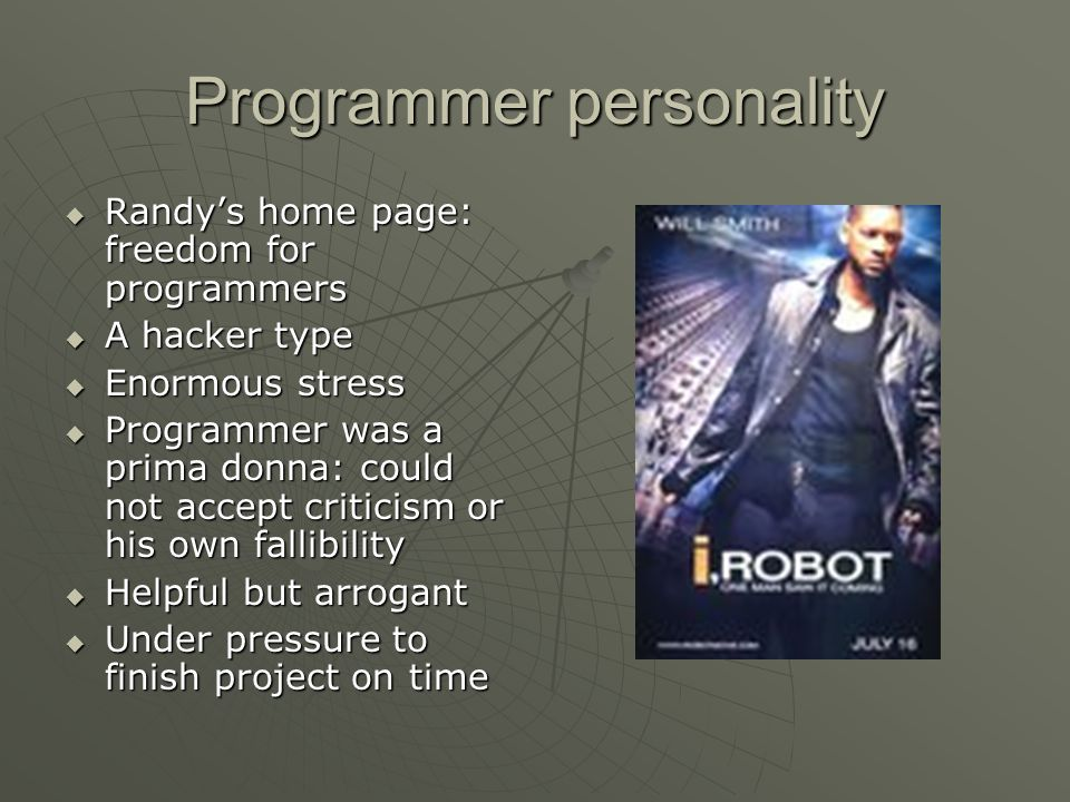 Programmer personality