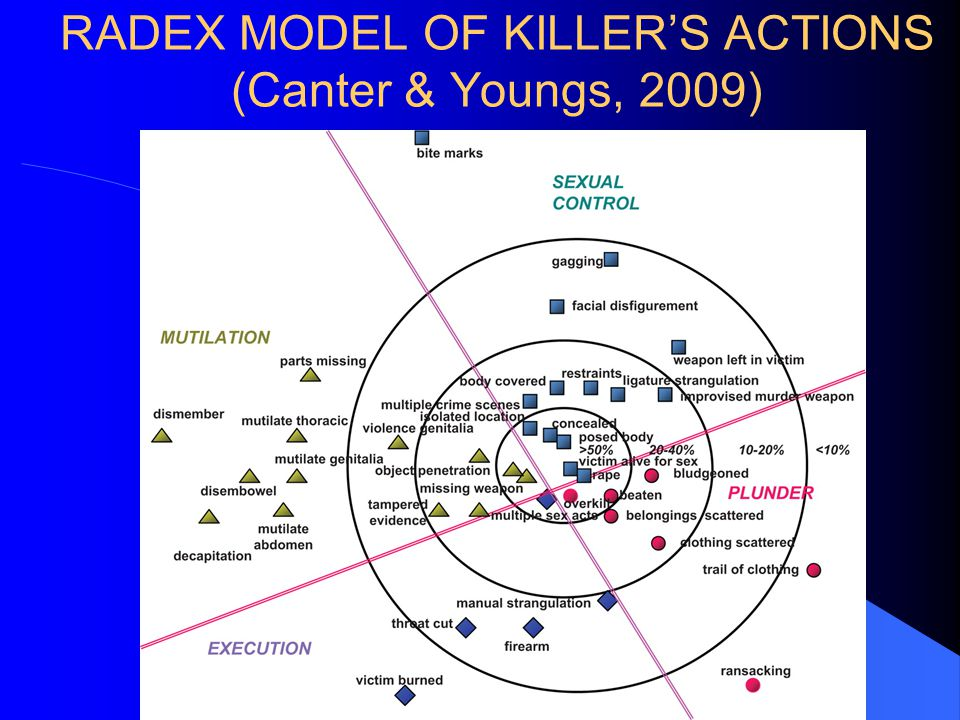 RADEX MODEL OF KILLER'S ACTIONS (Canter & Youngs, 2009)