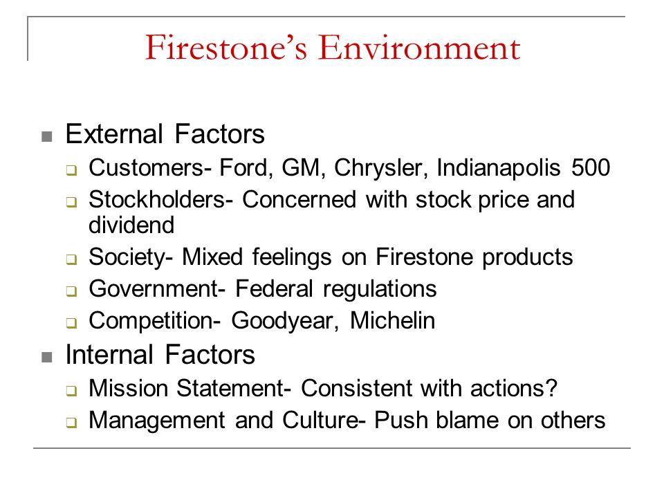 Firestone's Environment