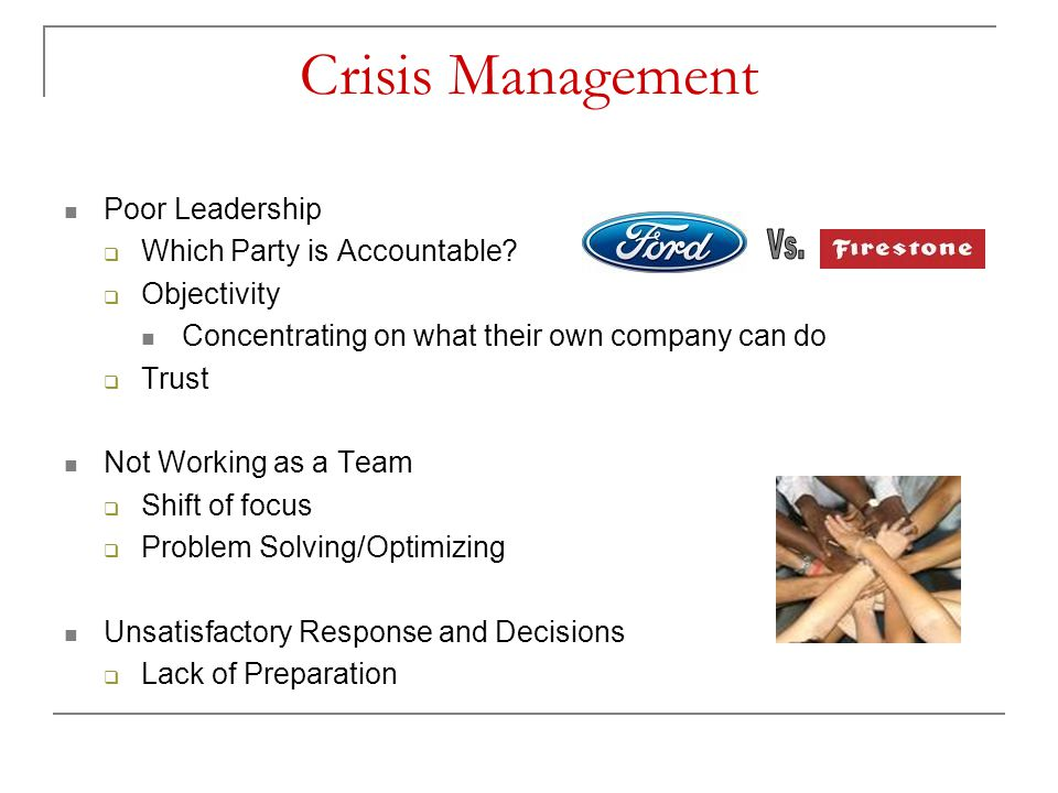 Crisis Management Poor Leadership Which Party is Accountable
