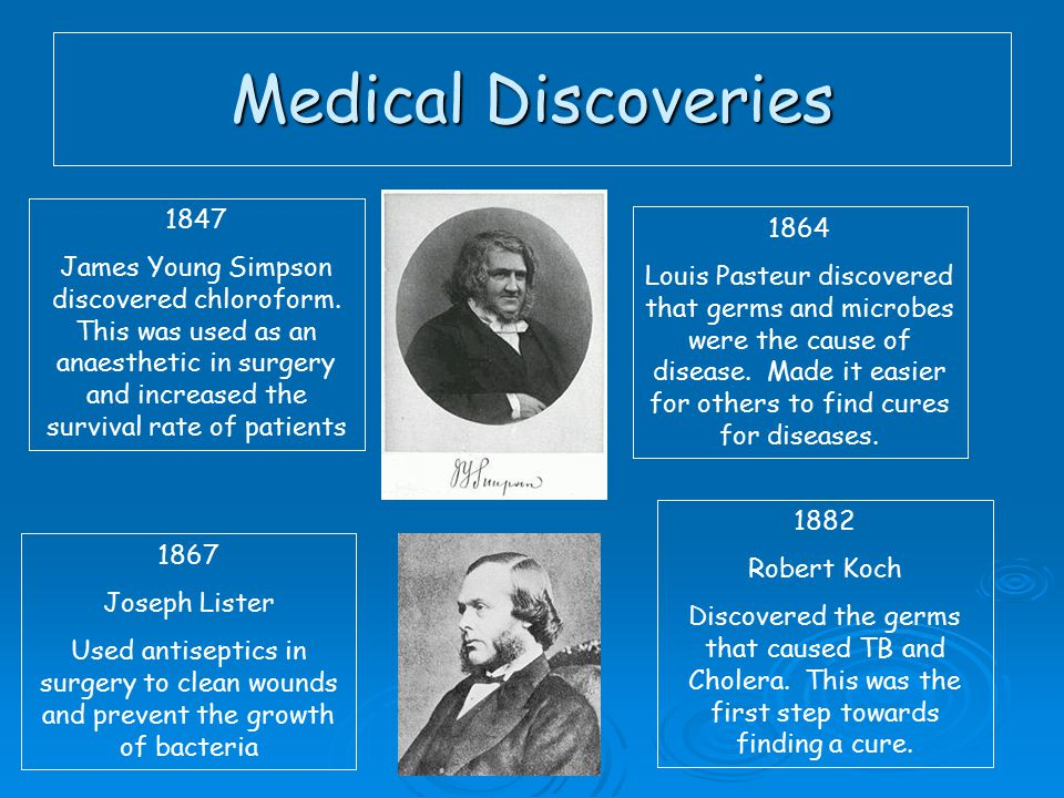 Medical Discoveries 1847.