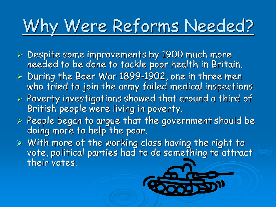 Why Were Reforms Needed