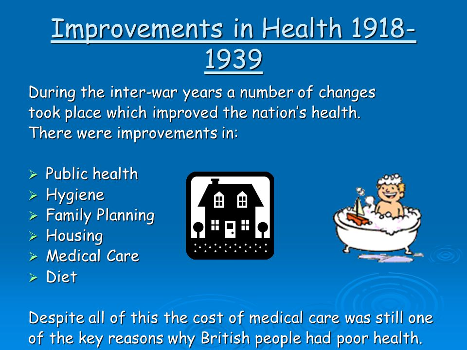 Improvements in Health 1918-1939