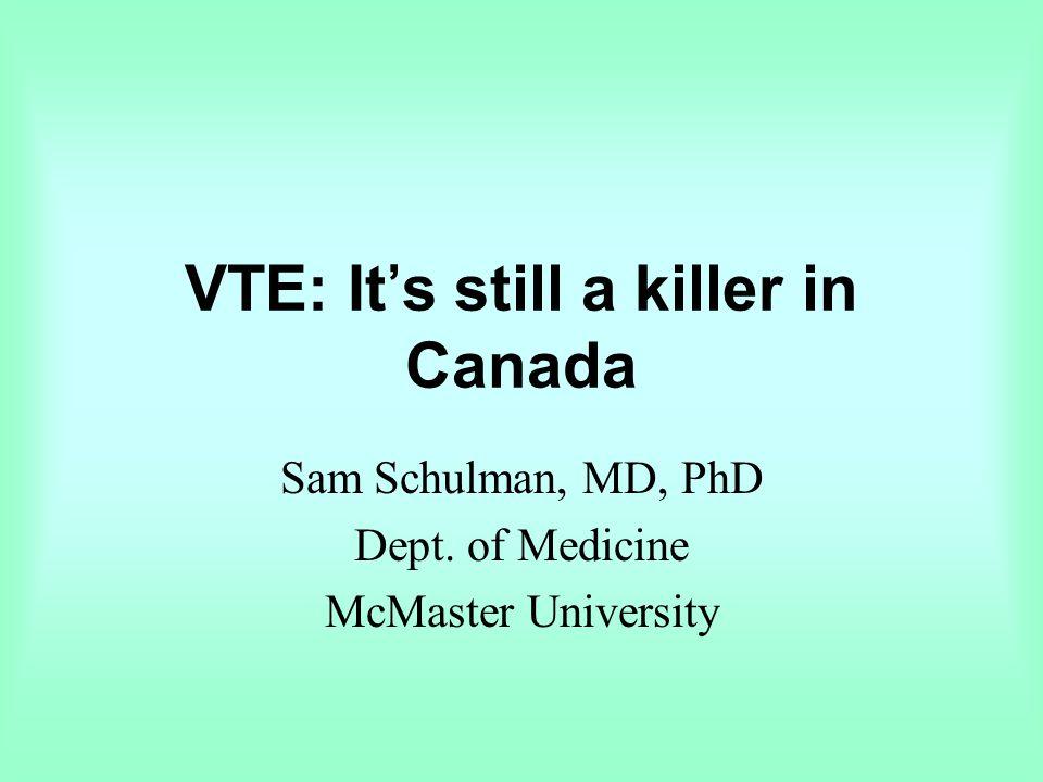 VTE: It's still a killer in Canada