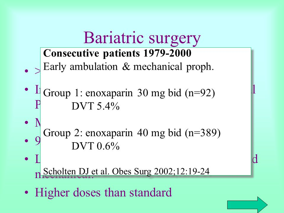 Bariatric surgery >100,000 procedures in the US