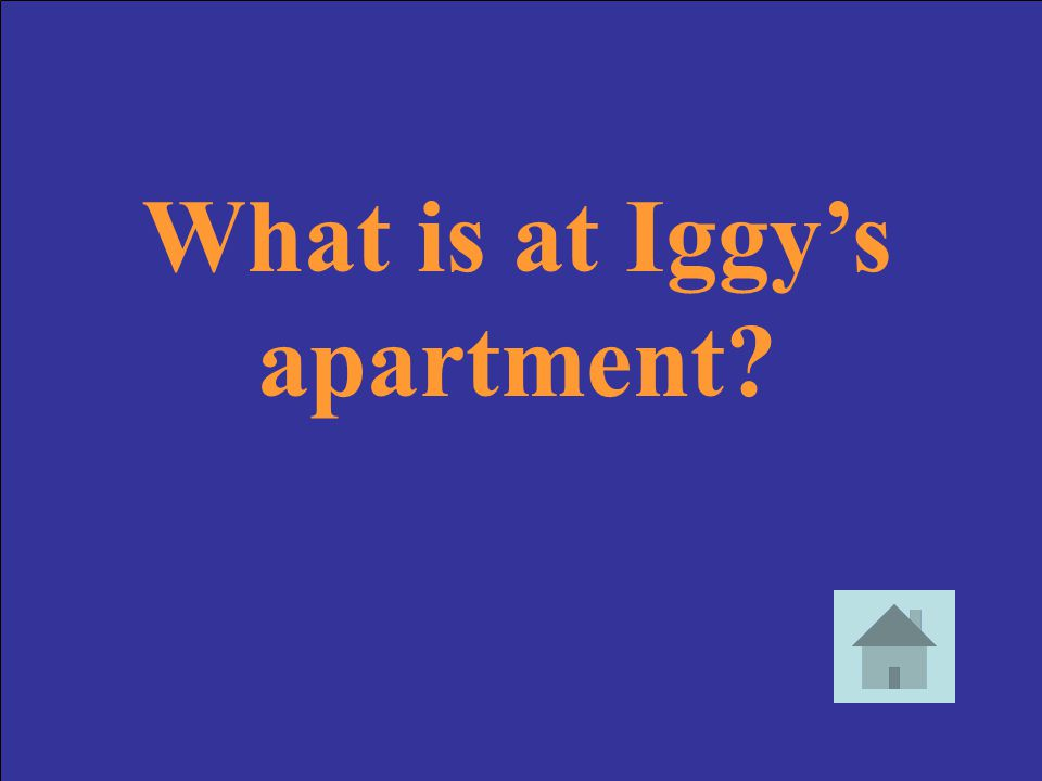 What is at Iggy's apartment