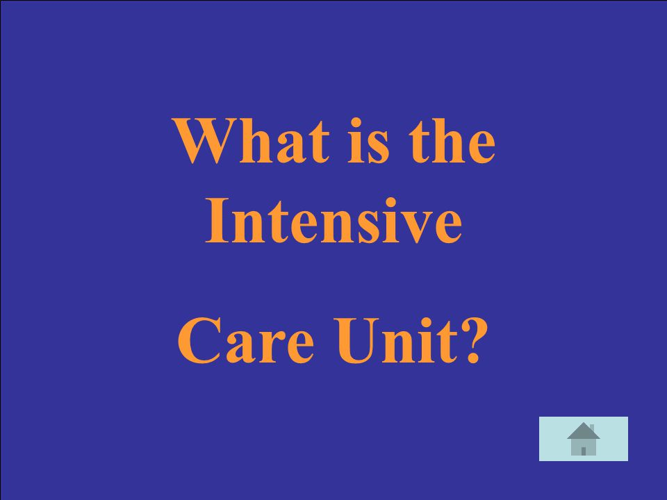 What is the Intensive Care Unit
