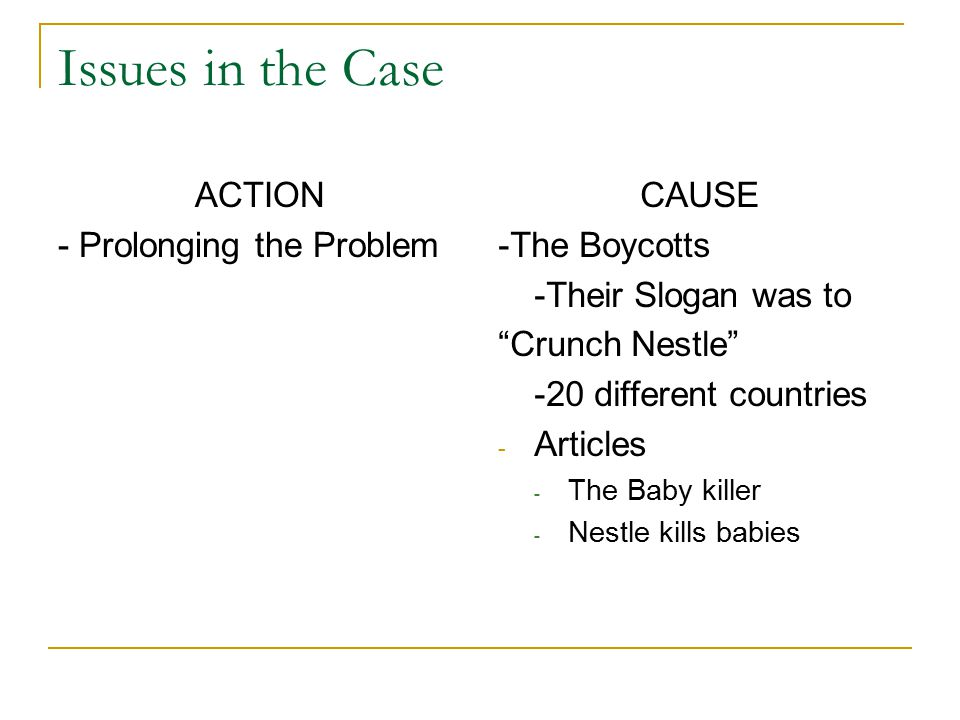 Case Nestl 233 S Infant Formulas Killing Babies Ppt Video