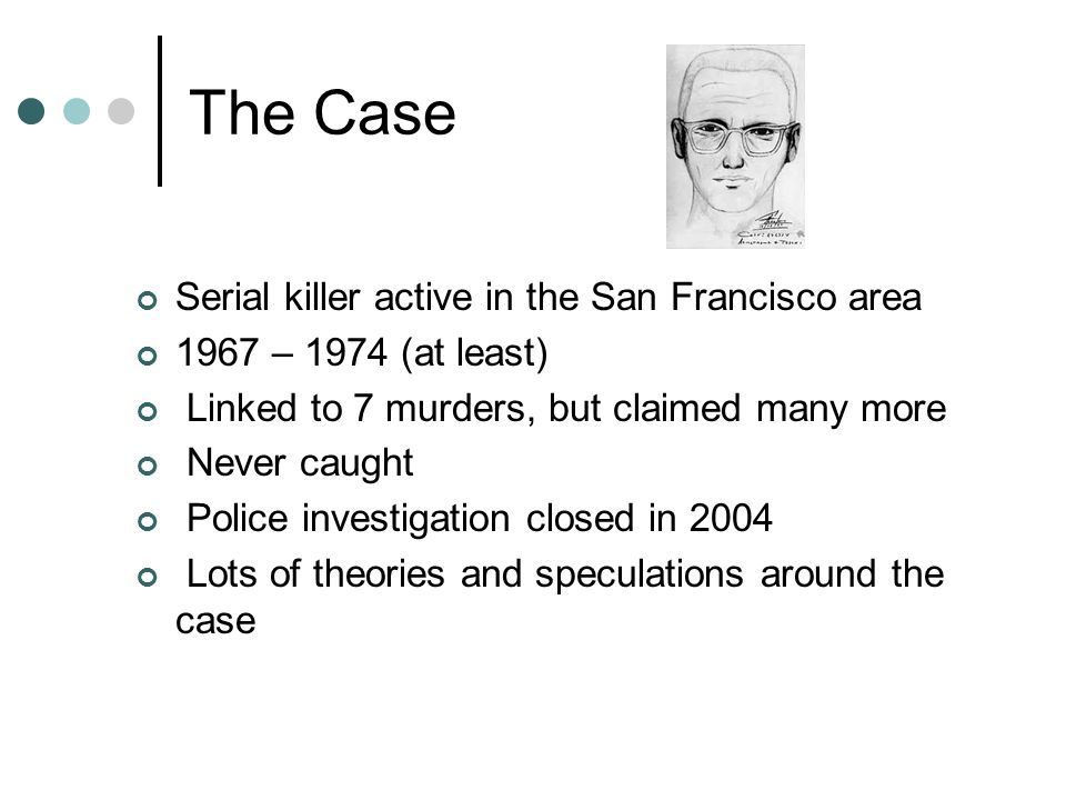 The Case Serial killer active in the San Francisco area