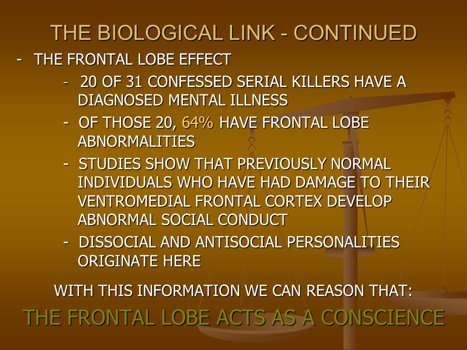 THE BIOLOGICAL LINK - CONTINUED