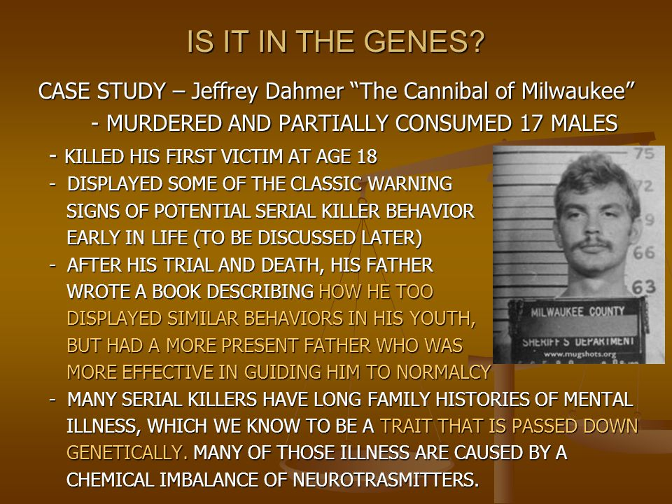 CASE STUDY – Jeffrey Dahmer The Cannibal of Milwaukee