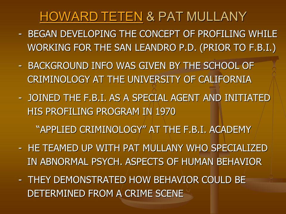 HOWARD TETEN & PAT MULLANY