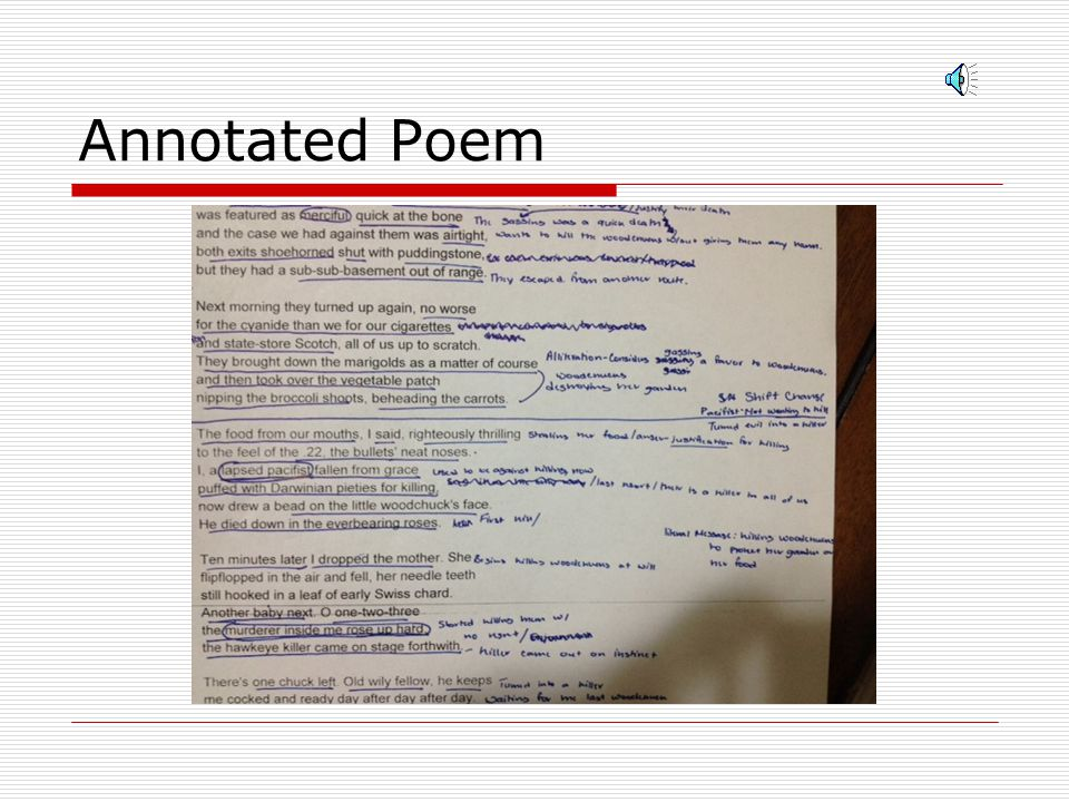 Annotated Poem