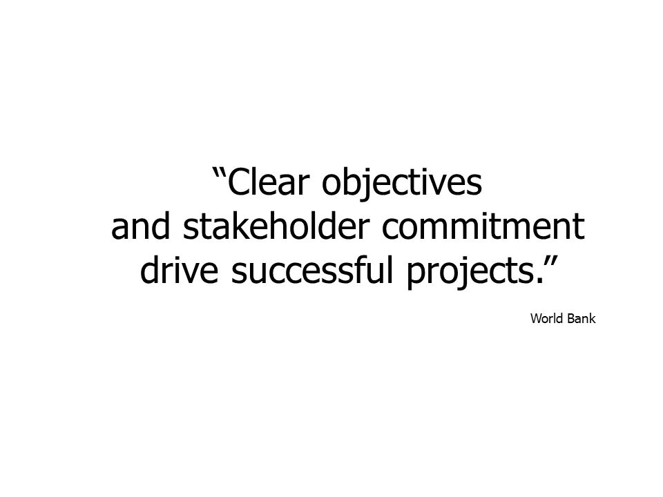 and stakeholder commitment drive successful projects.