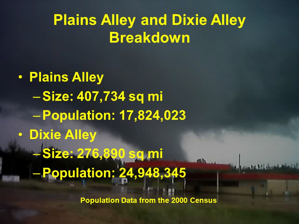 Plains Alley and Dixie Alley Breakdown