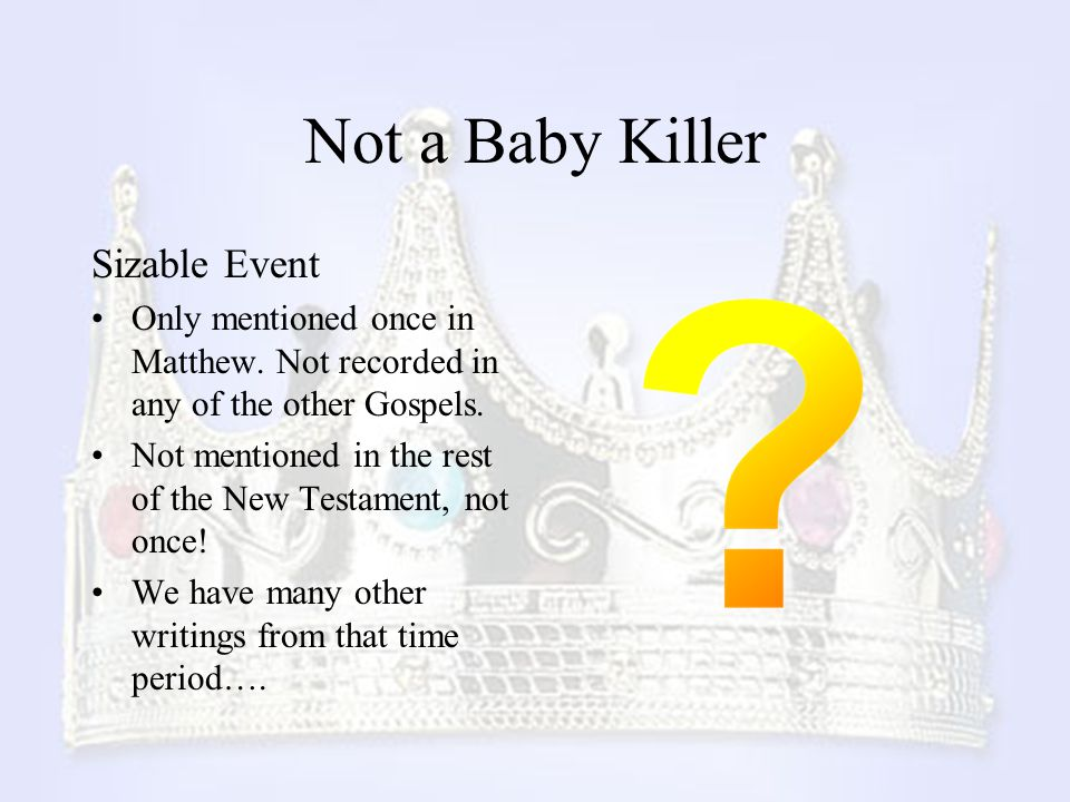 Not a Baby Killer Sizable Event