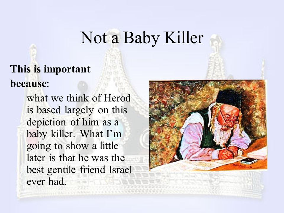 Not a Baby Killer This is important because: