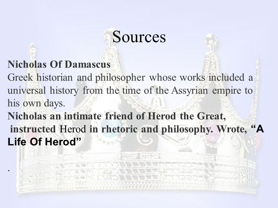 Sources Nicholas Of Damascus