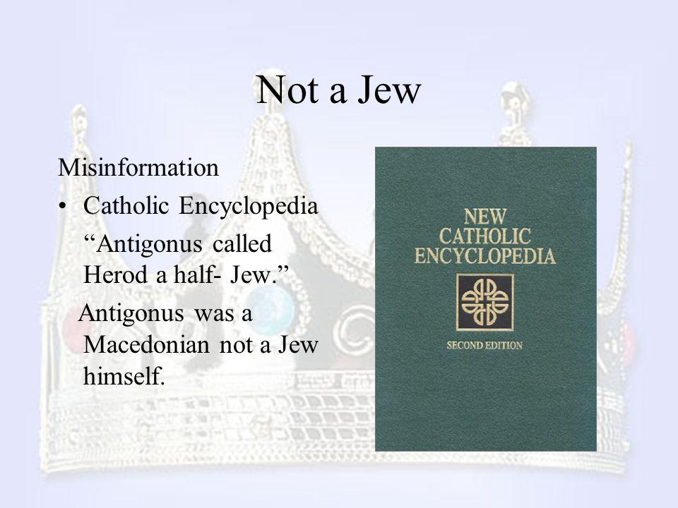 Not a Jew Misinformation Catholic Encyclopedia