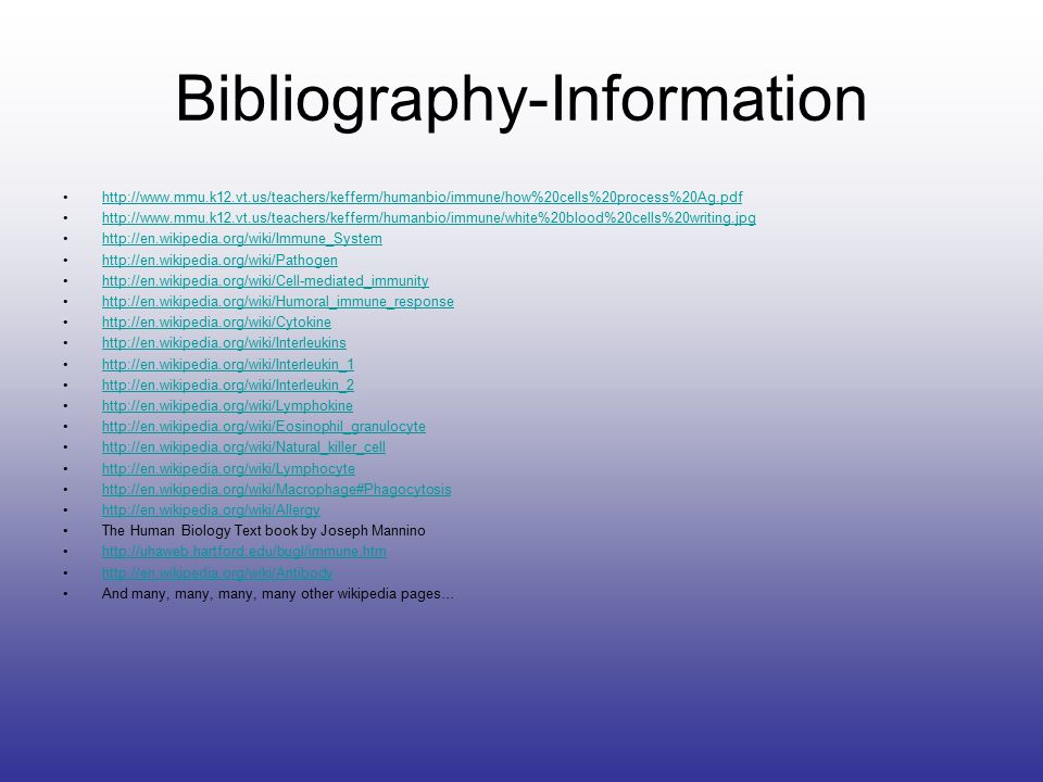 Bibliography-Information