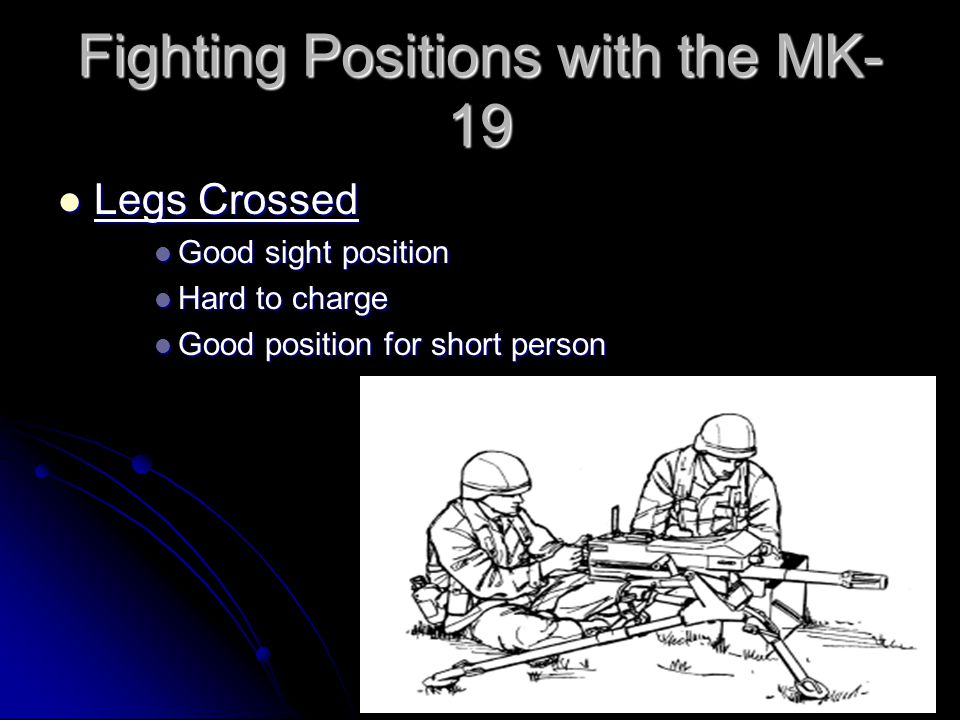 Fighting Positions with the MK-19