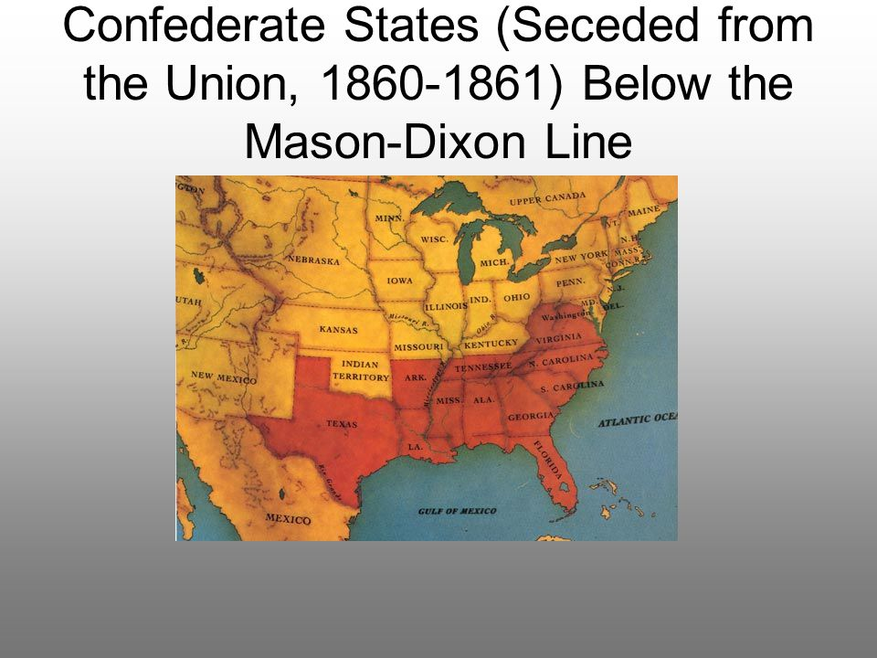 Mason Dixon Line As Of Map Of The Us School Ideas Mason And - 1861 us map mason dixon line