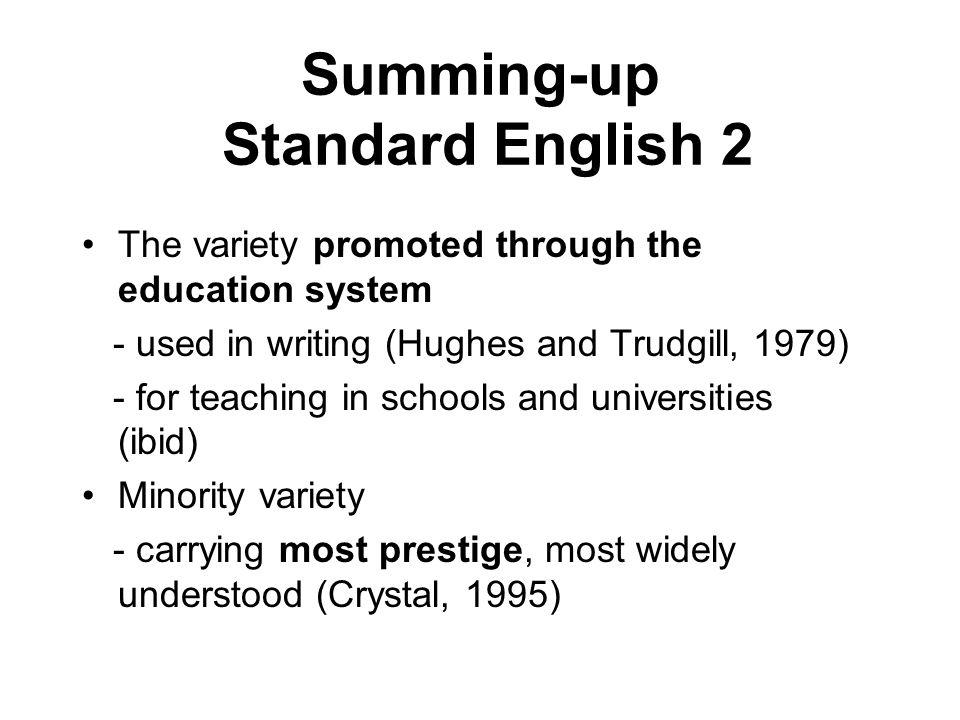 Summing-up Standard English 2