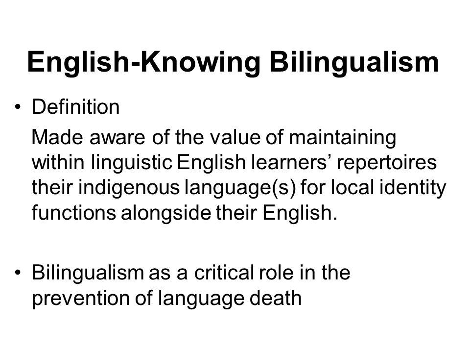 English-Knowing Bilingualism