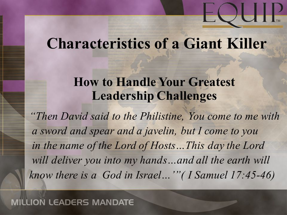 Characteristics of a Giant Killer How to Handle Your Greatest