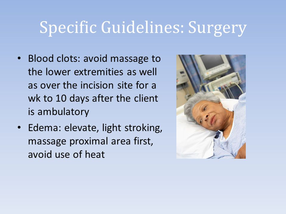 Specific Guidelines: Surgery