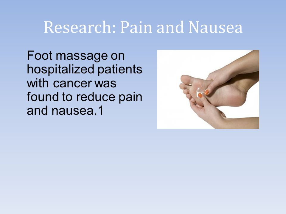 Research: Pain and Nausea