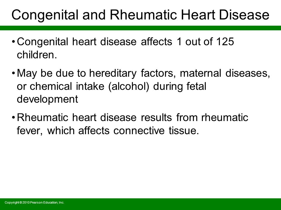 Congenital and Rheumatic Heart Disease