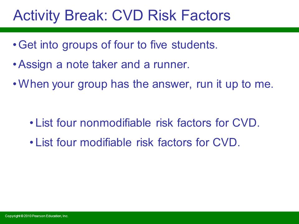 Activity Break: CVD Risk Factors