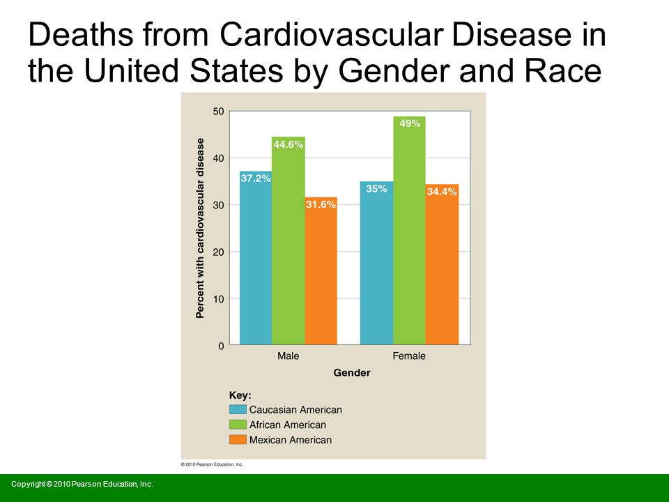 Deaths from Cardiovascular Disease in the United States by Gender and Race
