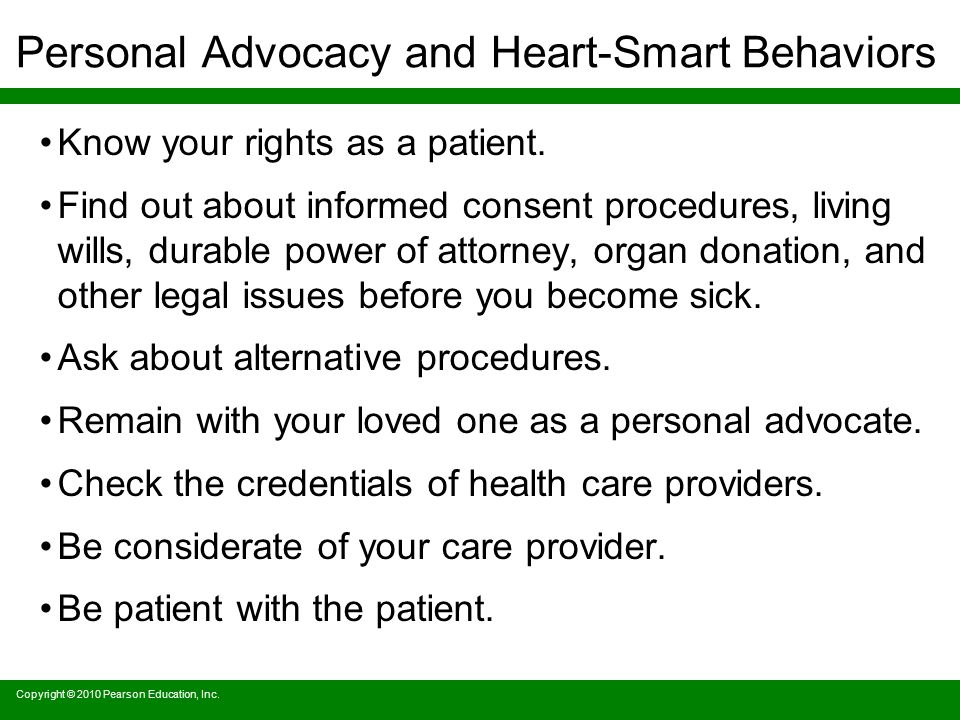 Personal Advocacy and Heart-Smart Behaviors