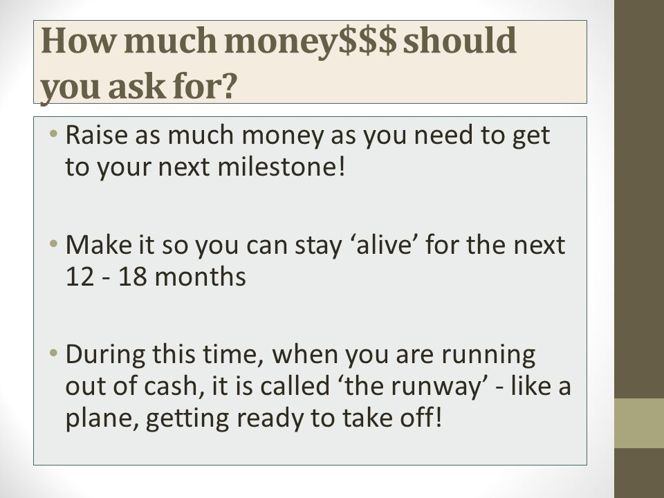 How much money$$$ should you ask for