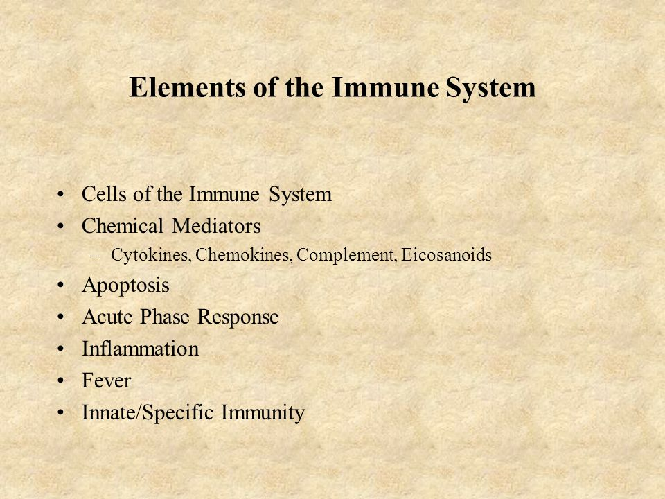 Elements of the Immune System