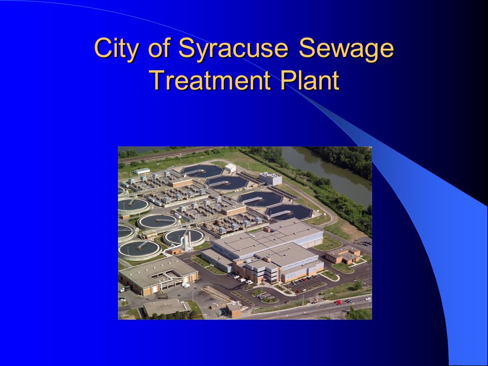 City of Syracuse Sewage Treatment Plant