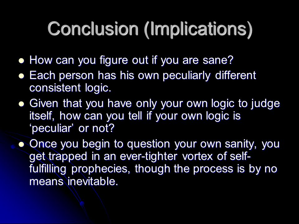 Conclusion (Implications)