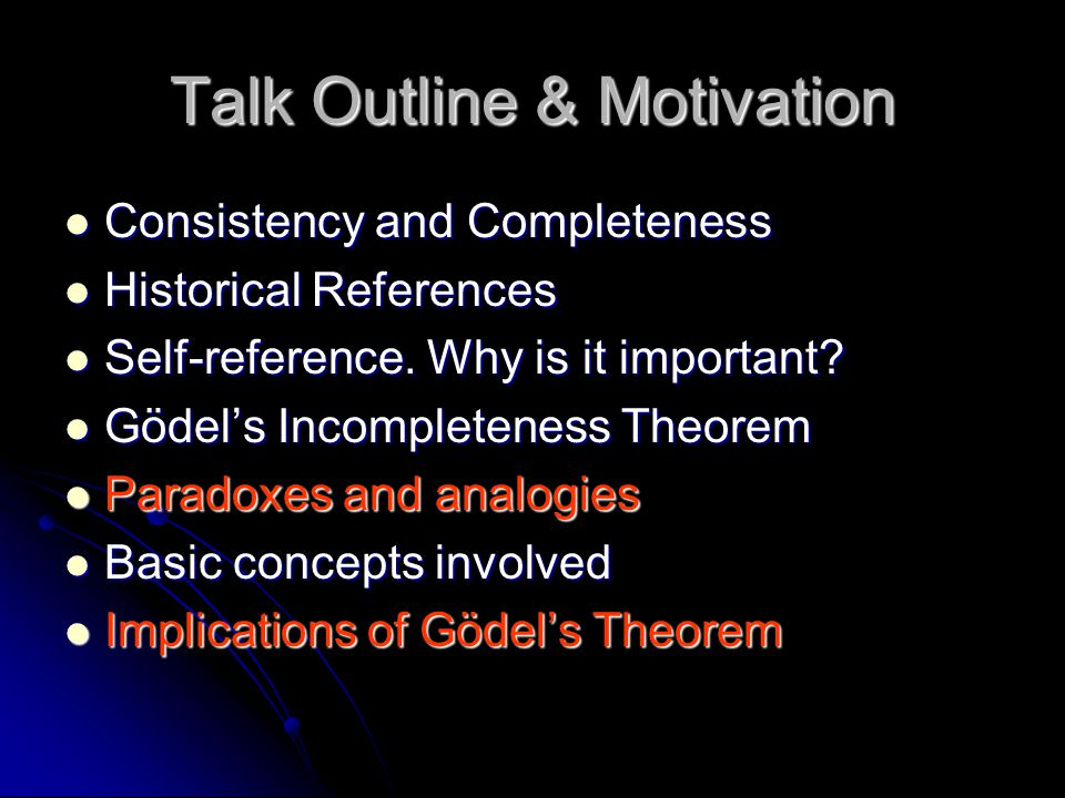 Talk Outline & Motivation