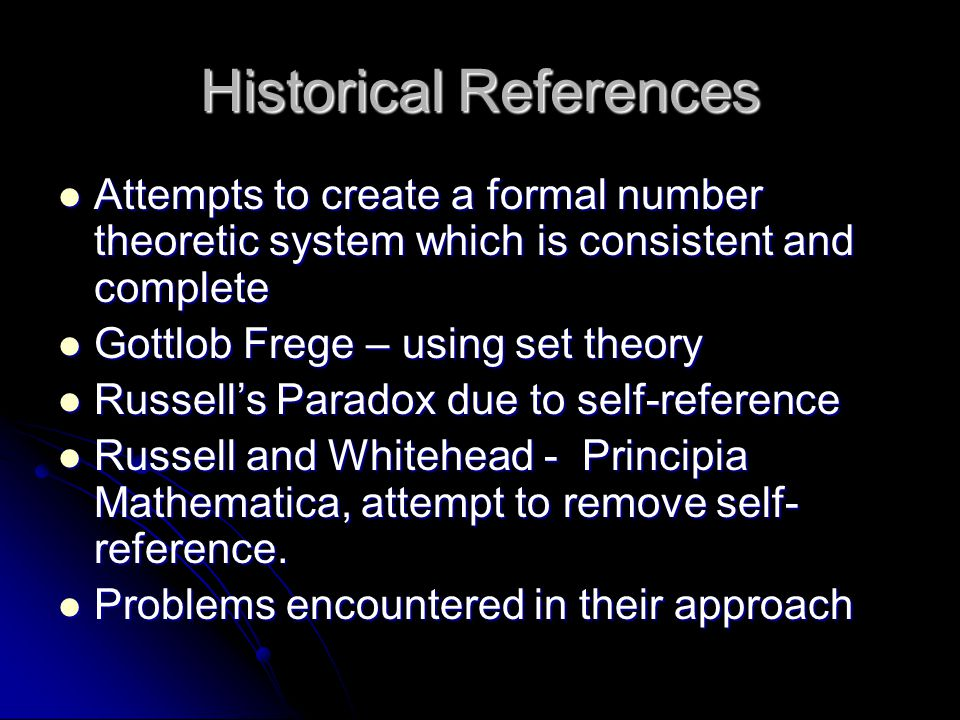 Historical References