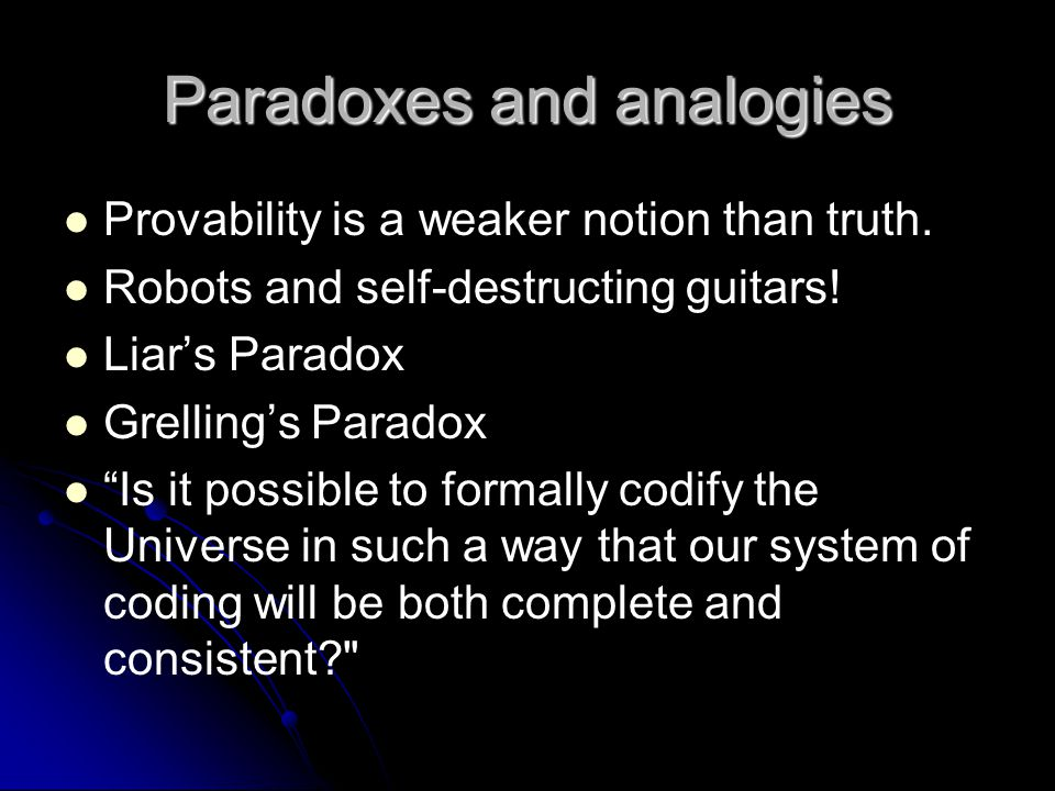 Paradoxes and analogies