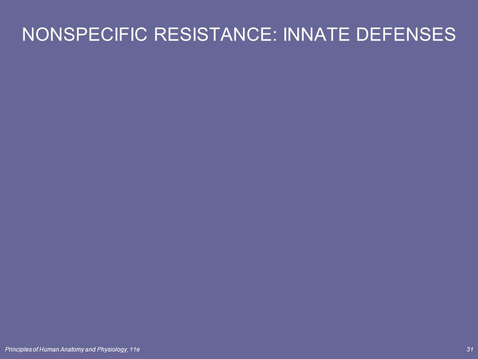 NONSPECIFIC RESISTANCE: INNATE DEFENSES