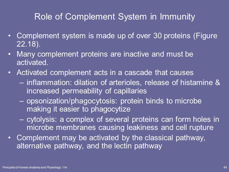 Role of Complement System in Immunity