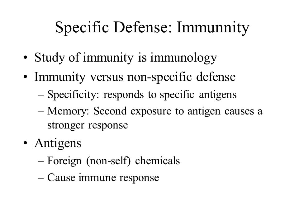 Specific Defense: Immunnity